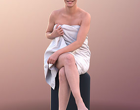 10650 Nadin - Young Girl Sitting In A Sauna With Towel 3D