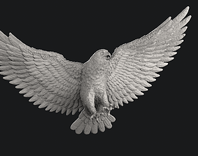 Fly eagle falcon sculpture pendant 3D printable model