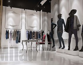 3D model Boutique - Girls and women clothing store