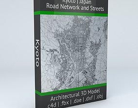 Kyoto Road Network and Streets 3D