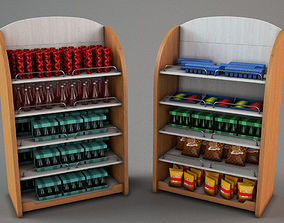 3D model Market Shelf Group