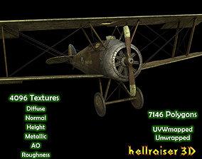 Sopwith Camel Aircraft - Textured 3D model