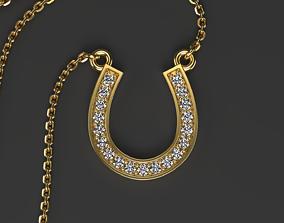 Simple horseshoe pendant 3D printable model