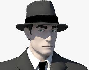 rigged Gangster 3D Model