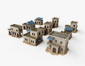 Collection of Oriental Buildings 3D asset