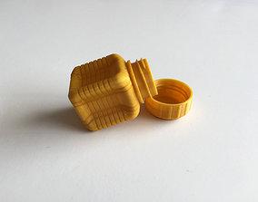 3D printable model Bottle and Screw Cap D