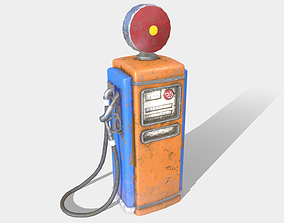 Low Poly PBR Gas Pump 3D model