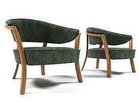 1011 Velvet armchair 3D