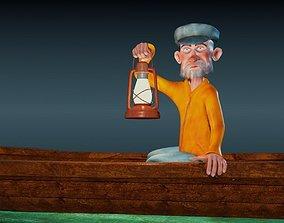 Fisherman - Rigged cartoon character 3D asset