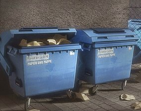 3D asset Garbage container with ragdoll settings