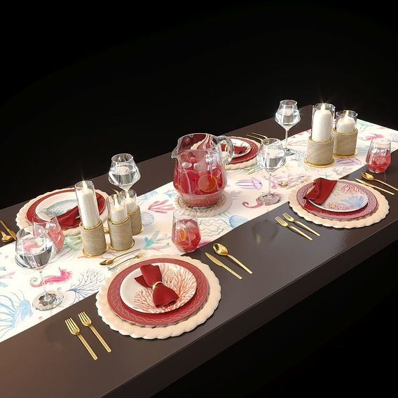 Table setting Sea life