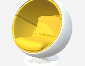 3D model Low Poly PBR Ball Chair