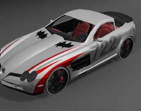 3D asset realtime Mercedes Benz SLS