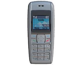 Nokia 1600 Silver 3D