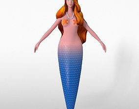 3D model low-poly Mermaid woman