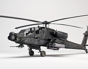 AH-64 Apache Helicopter 3D