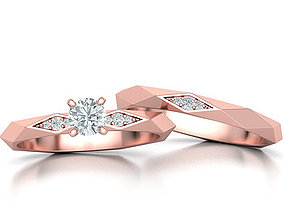 3D Facet Wedding Set with discount