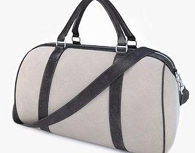 Beige travel bag 3D model suitcase