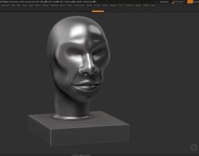 human head modern sculpture 3d print model 101