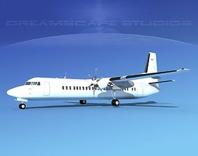 3D model Fokker F-60 Unmarked 2