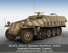 SDKFZ 251 Ausf D - Half-track - 104 3D