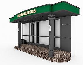 3D Coffee Shop Entrance