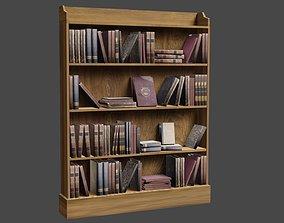 Bookcase 3D asset VR / AR ready