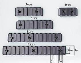 Picatinny Rail P2 with bolt holes STL 3D print model