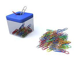 Paper clip with box v2 3D model