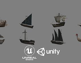 Ship Pack 01 3D asset