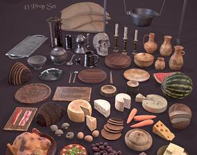 3D model Medieval Kitchen Essentials