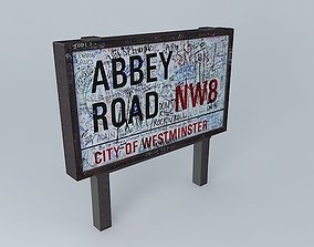 Abbey Road NW8 Sign 3D model
