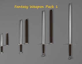 3D asset Fantasy Weapon Pack 1