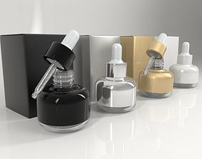 3D 4 Cosmetic Bottle - Dropper and Box