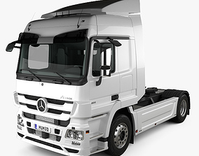 3D model Mercedes-Benz Actros Tractor Truck 2-axle with 2
