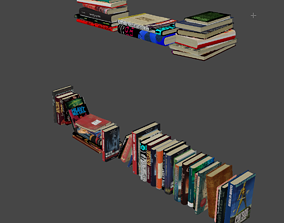 books for bookshelf collection 3D model