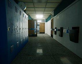 HQ Modular Interior School 3D asset