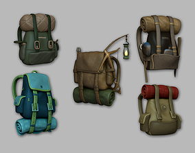 05 Adventurer Camping Backpacks 3D