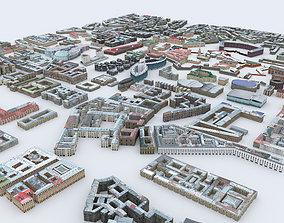 Houses Saint Petersburg 3D asset
