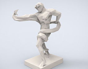 Printable Athlete Wrestling a Python