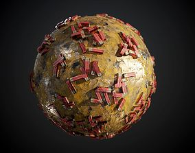 3D model Ground Metal Rusty Shotgun Shells Seamless PBR