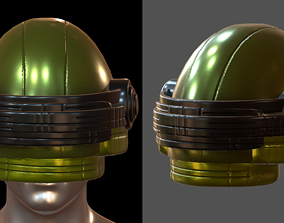Gas mask future helmet 3d model scifi Low-poly game-ready