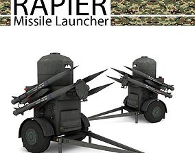 3D asset RAPIER Missile Launcher