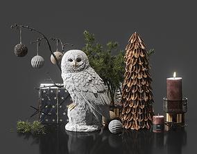 Decorative set 11 3D tree