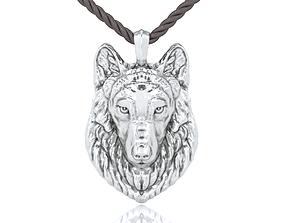 3D print model Wolf Head Pendant wild