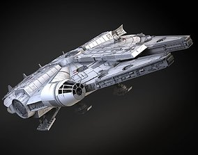 3D StarWars Millennium Falcon with Interior