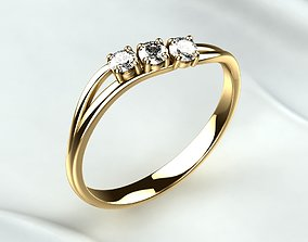 3D print model Golden Ring With Diamonds Free