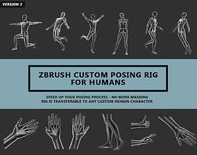 Zbrush Custom Posing Rig Tool For Humans V2 3D model