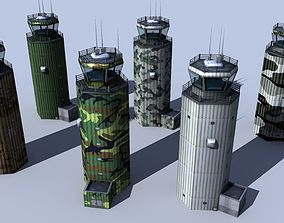 ATC Tower - 6 Diffrent textures - Air Traffic 3D model 2