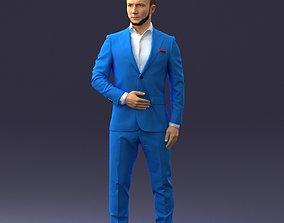 man in blue suit 0905 3D print ready